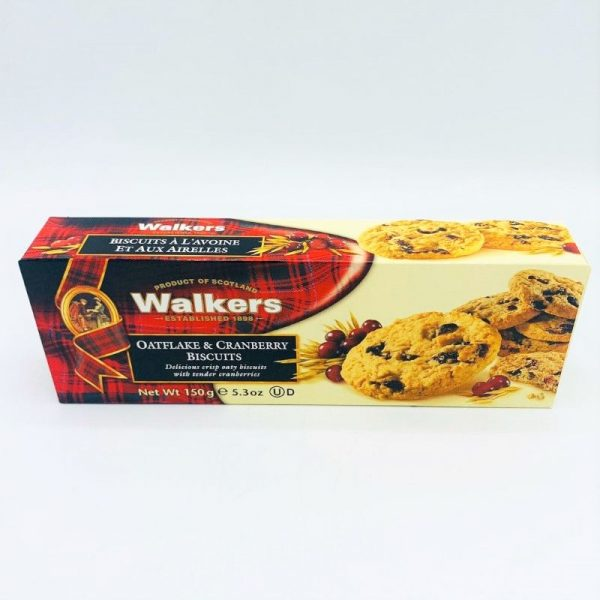 WALKERS OATFLAKE & CRANBERRY BISCUITS150G