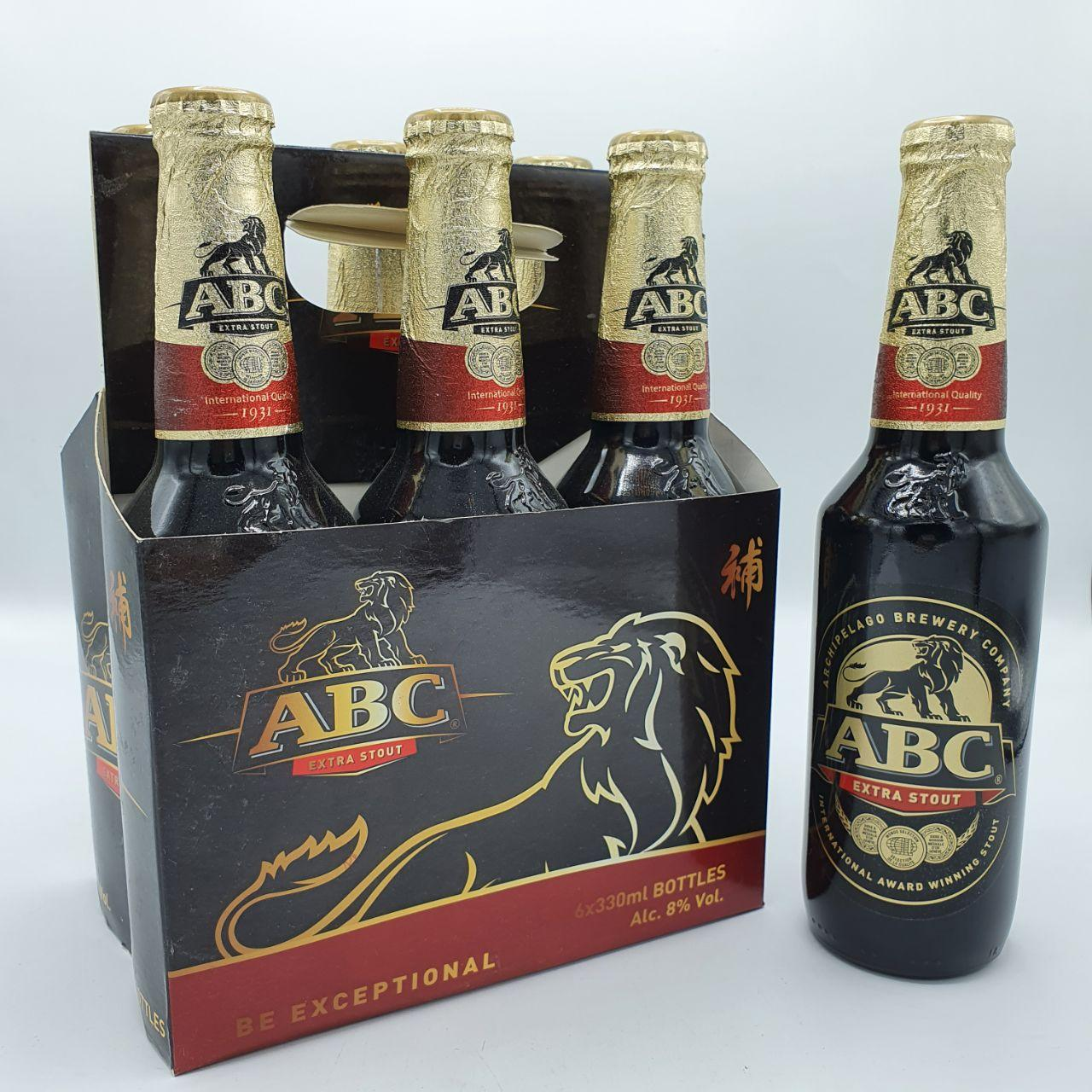 ABC EXTRA STOUT BOTTLE 330MLX6'S(PACK)