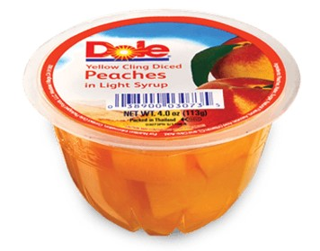 DOLE SLICE PEACHES IN LIGHT SYRUP 198G.
