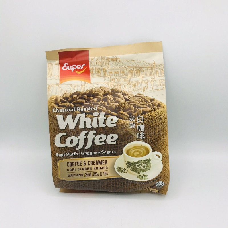 SUPER  CHARCOAL ROASTED WHITE COFFEE  2IN1 (COFFEE
